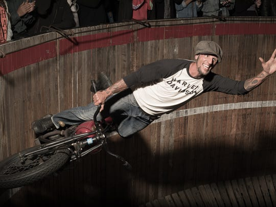 See the Rhett Rotten Wall of Death motorcycle stunt show at Hot Harley Nights.