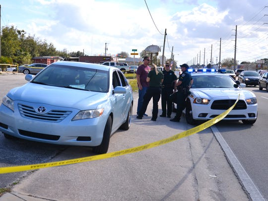 Brevard County Sheriff's deputies at Campus Center
