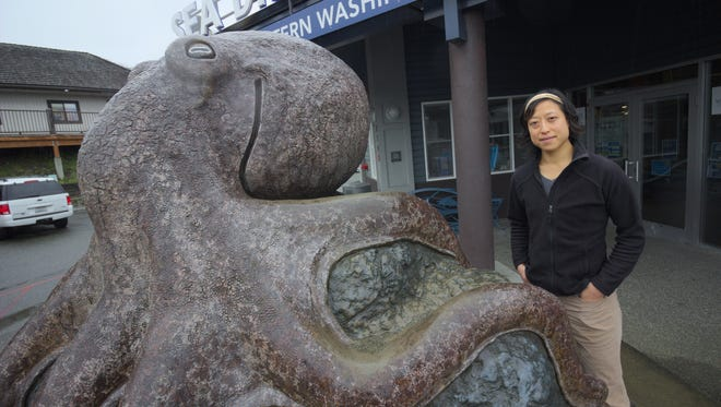 Dr. Sylvia Yang stands outside the SEA Discovery Center in Poulsbo.