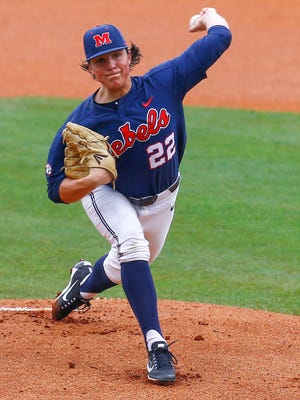 Mississippi pitcher Ryan Rolison went 10-4 this season with a 3.70 ERA.