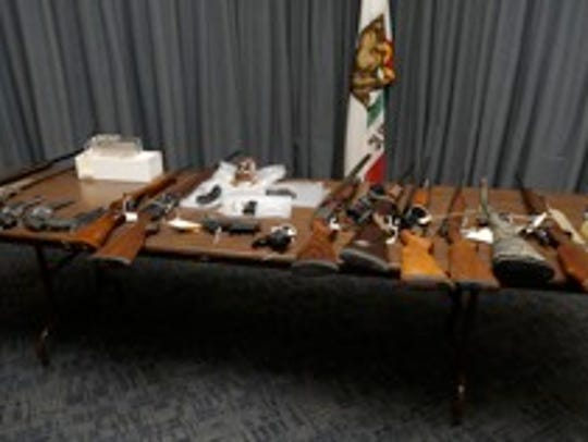 Firearms seized in Ventura County during a two-day