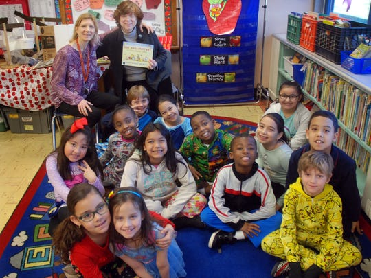 Union County Freeholder Bette Jane Kowalski reads to