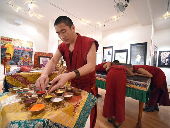 The Drepung Gomang Monastery Monks' Sacred Arts Tour ends this weekend at the Fish House Art Center in Port Salerno.