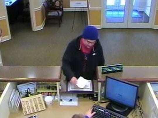Voorhees Police are looking for a suspect who allegedly held up a Fulton Bank April 4, 2016.
