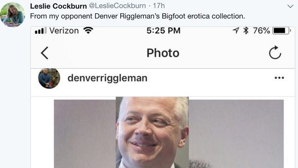 Virginia Democrat Leslie Cockburn tweeted about her