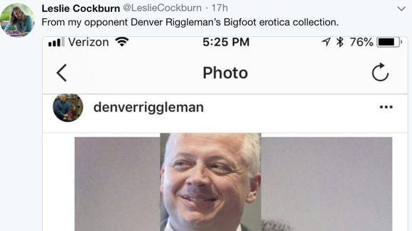 Virginia Democrat Leslie Cockburn tweeted about her