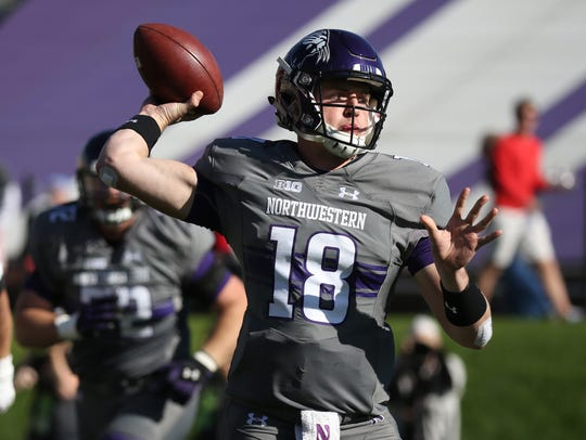 Northwestern quarterback Clayton Thorson.