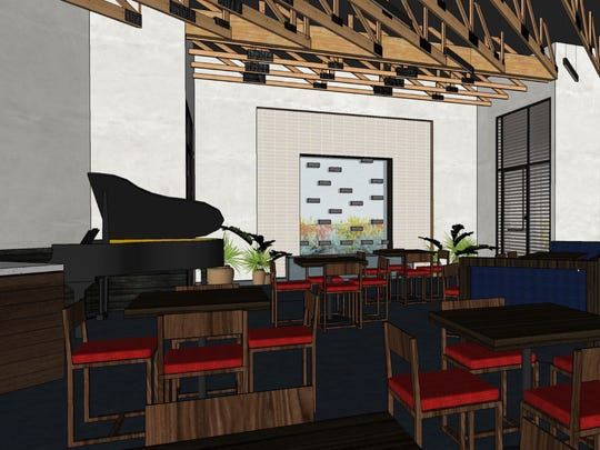 Concept rendering of Zen Culinary's dining room.