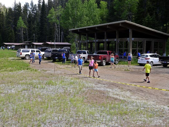 4-H campers check in on the first day of camp at Camp