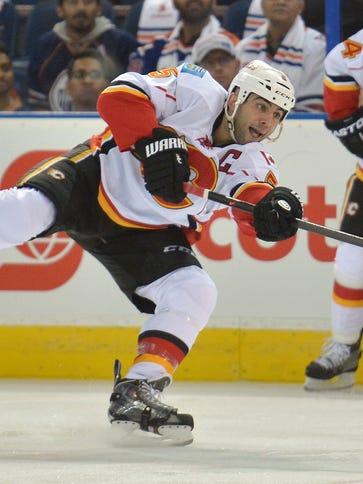 Calgary's Mark Giordano leads all defensemen in scoring