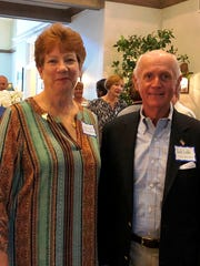 Linda Scott of St Francis Manor with Jack Liddle, a
