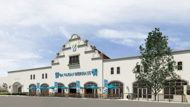 The facade of the Bavarian Bierhaus opening at Opry Mills in April 2017.