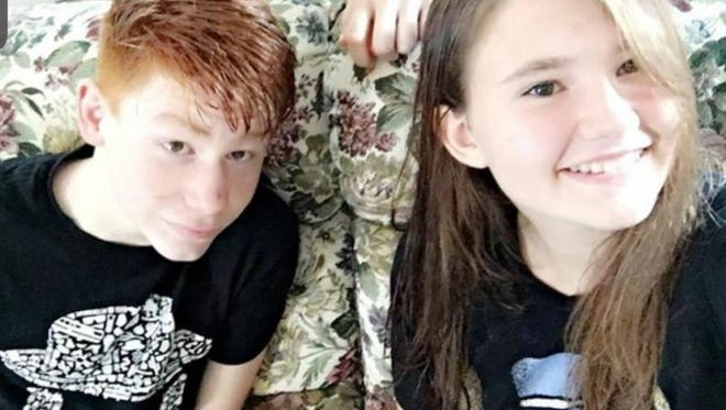 Sheriff's deputies say Aiden Ladd and Hannah Griffin, both 13, went missing the morning of Monday, Aug. 22, 2016.