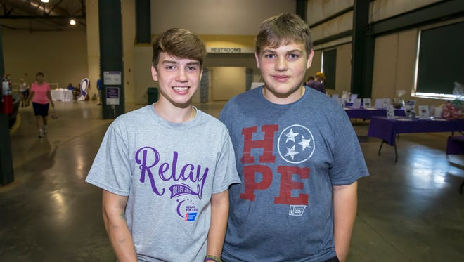 John Cramer and Trey Walker at the Relay for Life event held at Miller Coliseum.