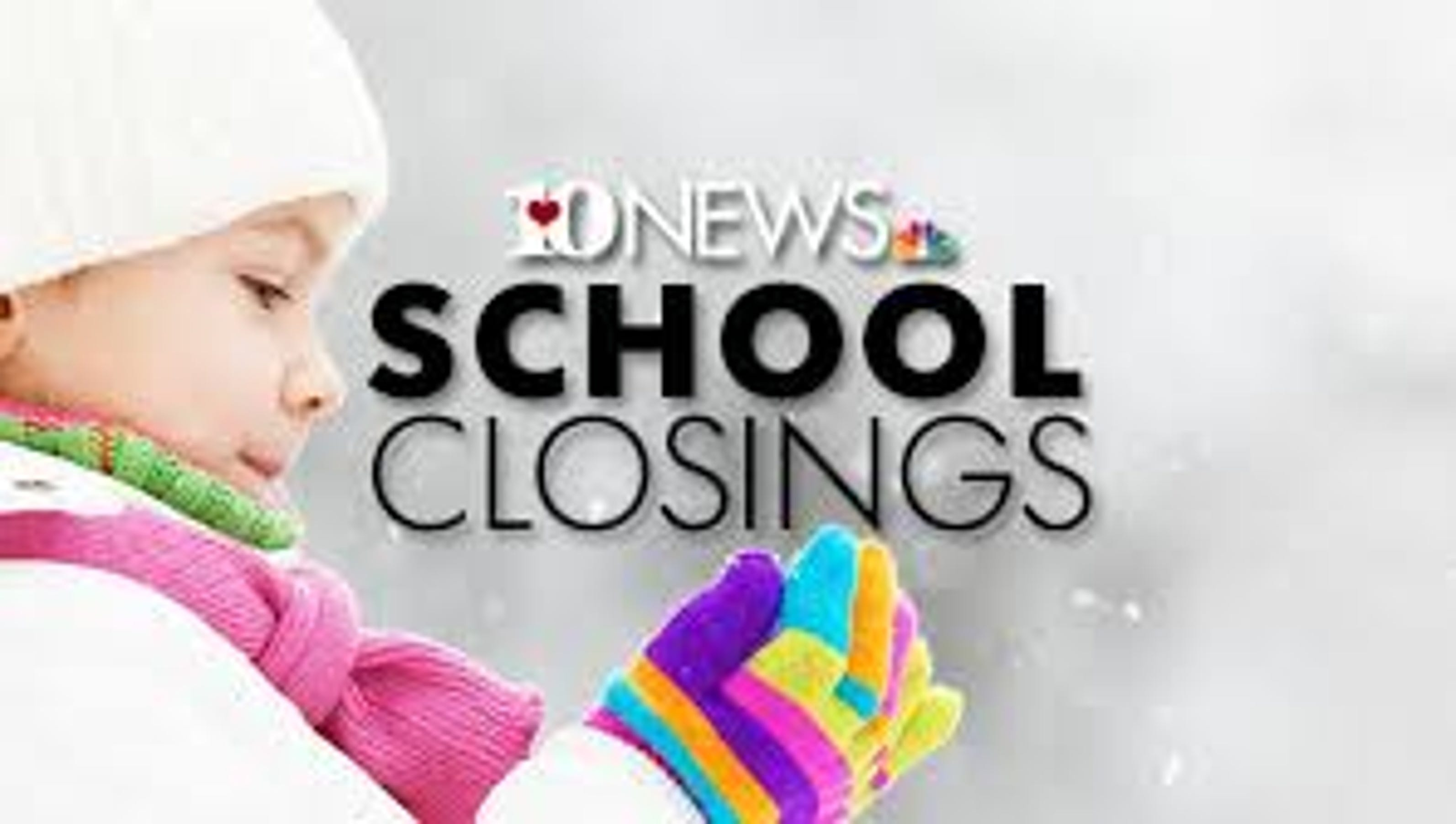 Dozens of school systems closed due to inclement weather