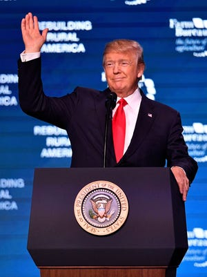 President Trump speaks Jan. 8, 2018, at the American Farm Bureau Federation convention in Nashville, Tenn.