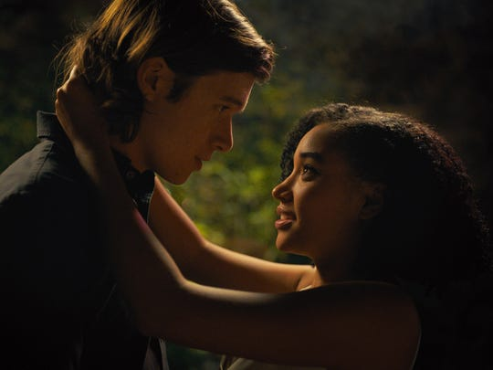 "Nick Robinson as Olly and Amandla Stenberg as Maddy in ""Everything, Everything."" The film is playing at Regal West Manchester Stadium 13, Frank Theatres Queensgate Stadium 13 and R/C Hanover Movies."