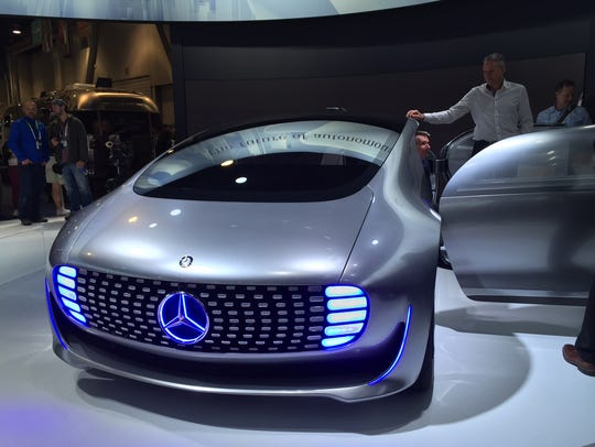 Mercedes-Benz unveiled its F 015 prototype at CES,