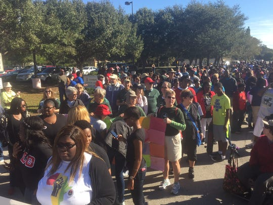Martin Luther King Jr. March gets underway in Fort Myers.