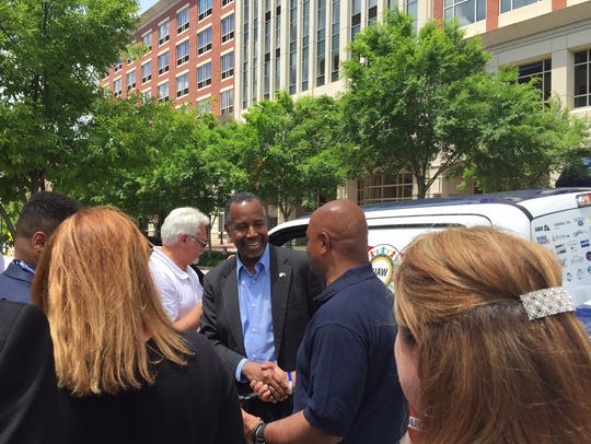 Ben Carson in Greenville on Saturday