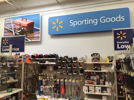 The Sporting Goods section at  the Walmart in Geneseo,