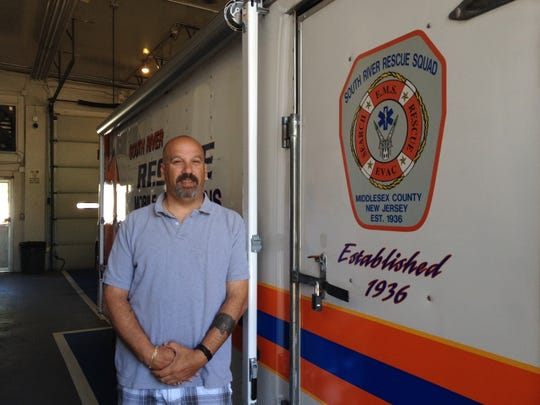 South River EMS Director Henry Vandebeek shows off the squad?s newest addition, a rescue mobile operations unit.