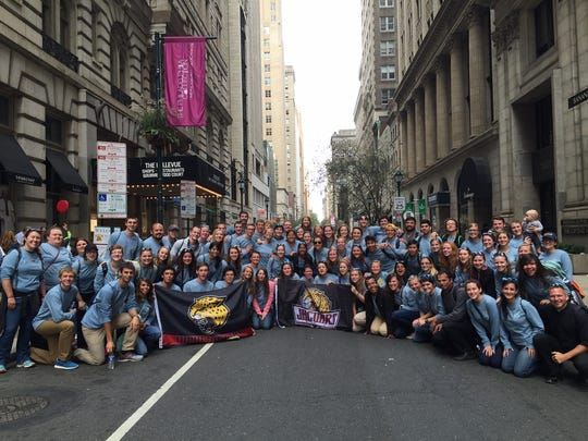 Students from IUPUI and Butler gather in downtown Philadelphia