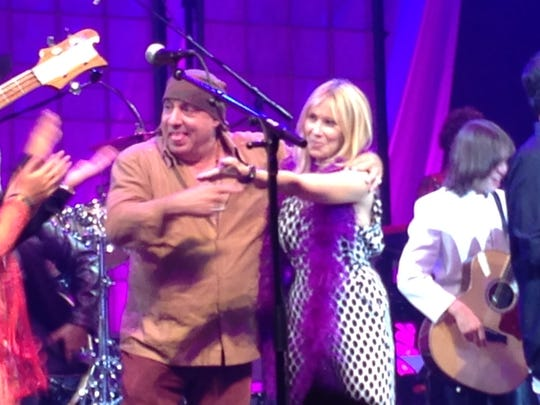 Steven and Maureen Van Zandt on stage at the Count Basie Center in Red Bank.