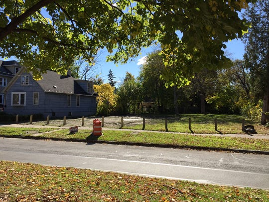 This empty lot at 489 Central Park in Rochester used to hold a home that belonged to Assemblyman David Gantt.