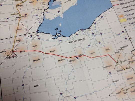 Energy Transfer's Rover Pipeline crosses Richland and Crawford counties.