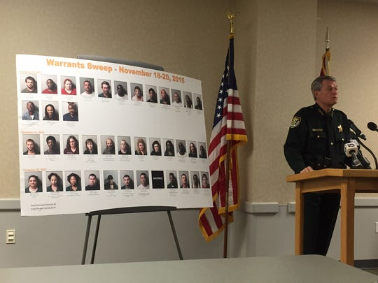 The Escambia County Sheriff's Office arrested 39 people
