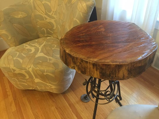 rustic chic table by local artist John Hendry