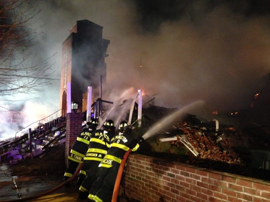 Fire crews responded to a fire at New Jerusalem Missionary Baptist Church on Vandever Avenue in December.