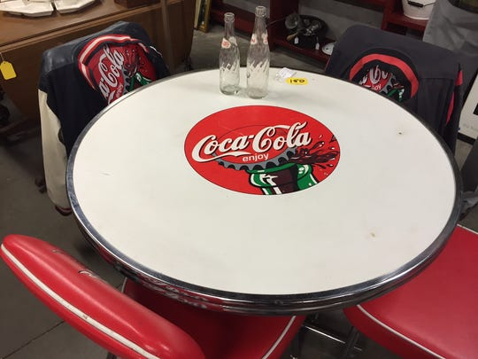 Coca Cola table at McKay's