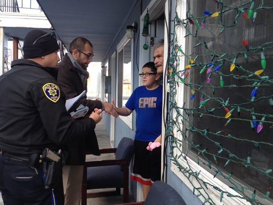 Reno city councilman Oscar Delgado and Reno police