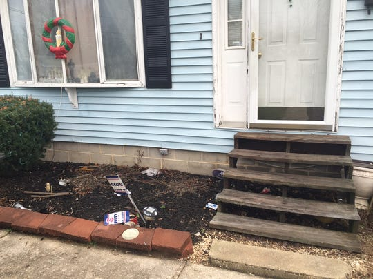 Used medical packages and a bloody rag littered Demetrius Rodgers' Middletown home's flowerbed on Thursday, more than 12 hours after a young man who'd been shot knocked on his door asking for help.