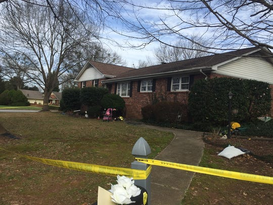 A Greenville woman died after she was found at her home when a fire was reported.