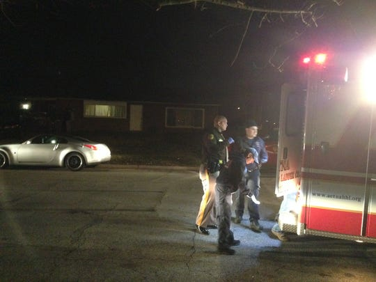Police investigate a reported shooting Sunday night in Ogletown.