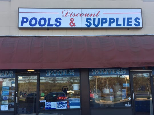 Discount Pools & Supplies is the business owned by a Camden Catholic graduate, who bought it when he was 24 a few years ago. The business has done well despite nearby competition.