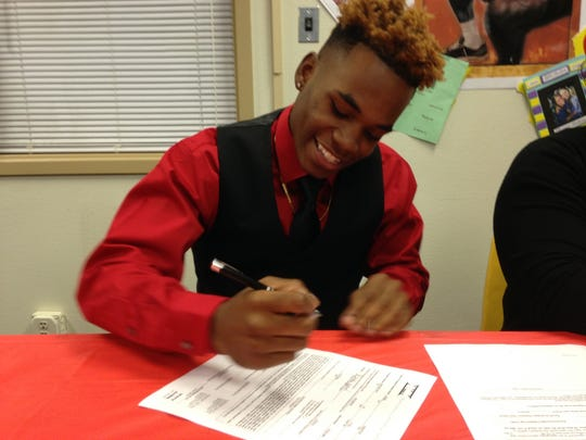 Byrd's Trent Jones signs with Henderson State.