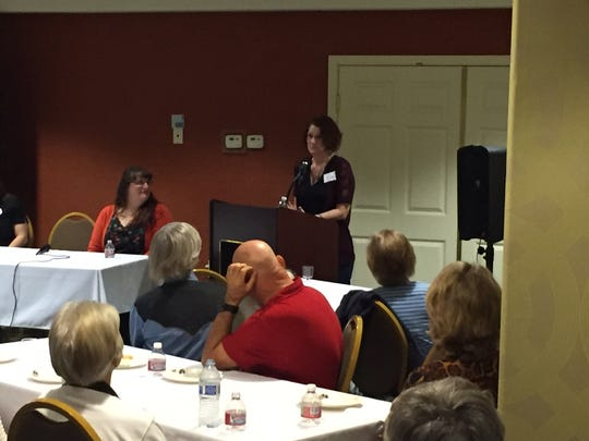 Lysa Buonanno shares her story at Thursday's roundtable