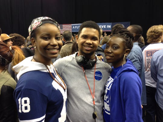 From left, Dominique Conway, Nick Thomas and Deja Stewart