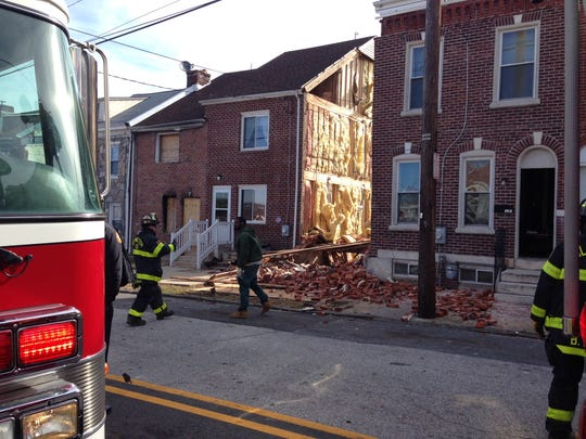 Crews were called out to a residential property in the 1100 block of N. Heald St. that collapsed.