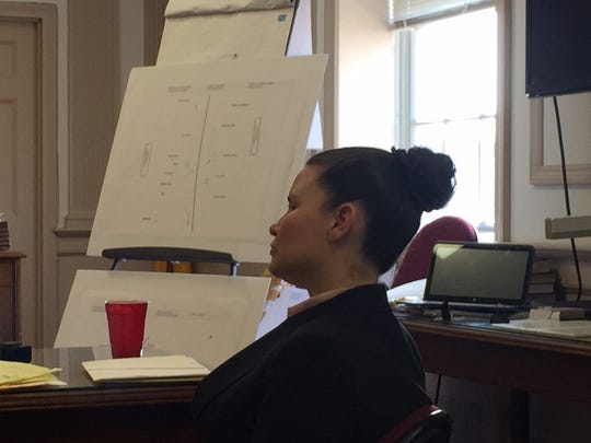 Vanessa E. Brown at her aggravated manslaughter trial in Morristown on March 8, 2016.
