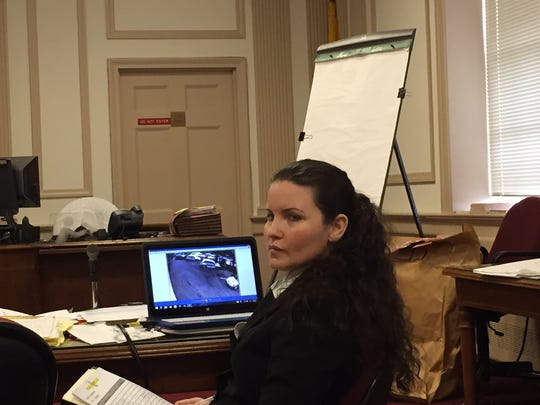 Vanessa E. Brown, at her trial in Morristown on March 14, 2016, on charges of killing Ralph Politi Jr. in a drunken driving crash in 2012.