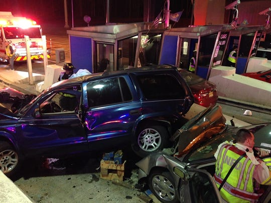 A SUV and sedan was involved in a car crash on Interstate 95 Wednesday evening.
