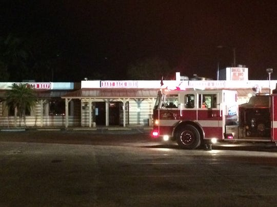 Fire crews contained a kitchen fire at Smoke'n Pit