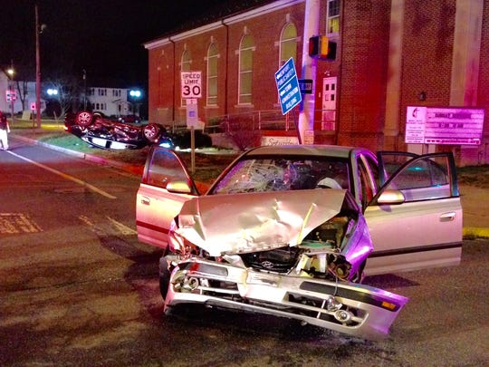 Four people were transported to the hospital following the crash in Newport.