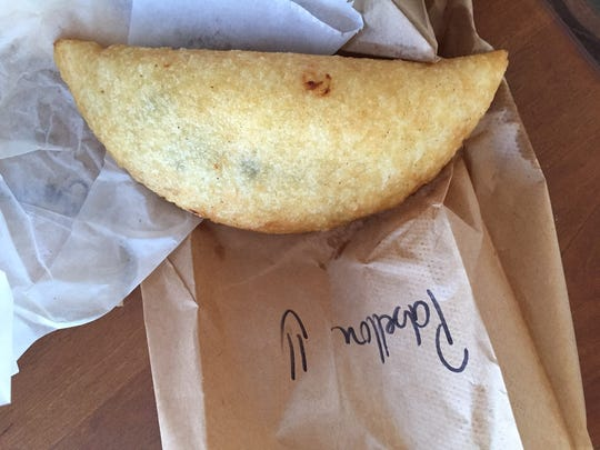 A pabellon empanada from Arrechissimo in Deer Park