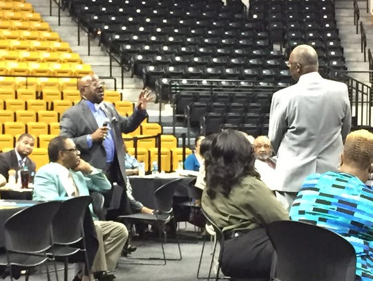 Dr. Eddie Jones responds to question from Dr. Maurice